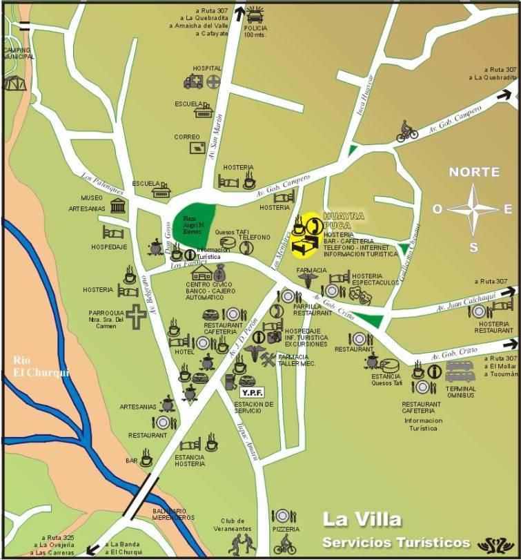 Mapa Tafi del Valle