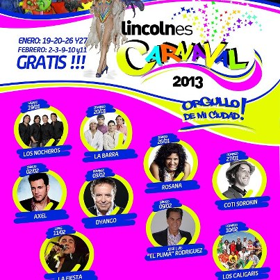 carnaval lincoln 2013